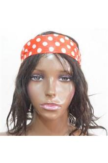 Angel Accessories Red/White Polka Dot Hair Band Scarf