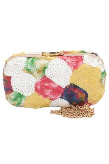 Fashion Multicolor Sequence Ladies Clutch Purse