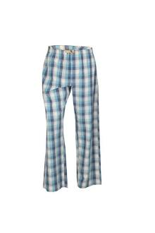M & S North Coast Blue/Cream Check Men's Pyjamas Trouser