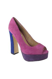 Steve Madden Purple Leather Ladies Heel Shoes