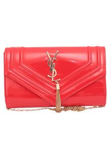 YSL Red Ladies Clutch Purse