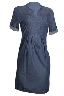 M&S Blue Ombre Short Sleeve Ladies Dress