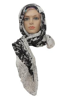 M & S Black-White Ladies Scarf