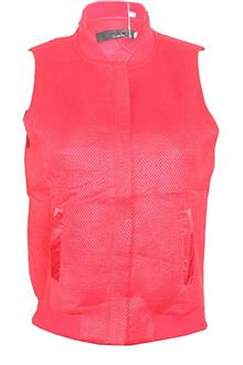 Comfortable Red Cotton Ladies Sleeveless Jacket