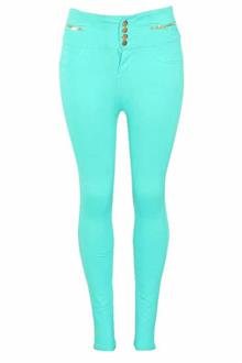 Active Green Ladies Jeggings