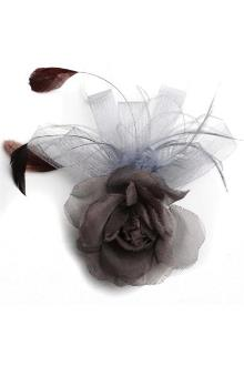Gray/Brown Feather Hair Fascinator