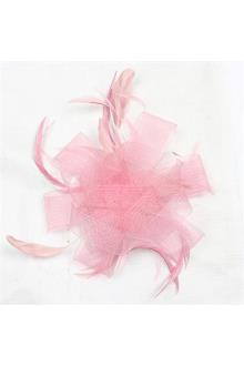 Juelz Light Pink Feather Hair Fascinator