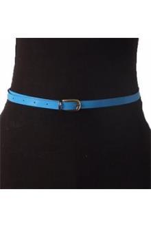 Turquoise Blue Slim  Ladies Belt Wt Bronze Head L 37 in