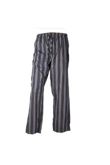 M & S Autograph Gray/Black Stripe Men's Pyjamas Trouser