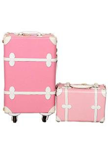 Fashion Pink 2 in 1 Luxury Travelling Box