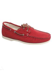 Cole Haan Red Denim Leather Mens Sneakers