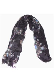 M&S Black/Purple Ladies Scarf