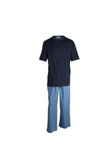 M & S Navy/Blue Mix Relax  Men's T-Shirt & Long Pant