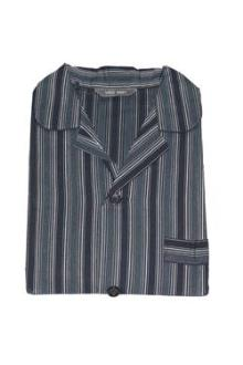 M&S Man Navy/Black Stripe Supersoft Men's Pyjamas