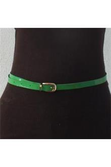 Green Slim  Ladies Belt Wt Bronze Head 36.6 in
