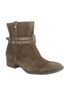 FG Green Suede Ladies Ankle Boot