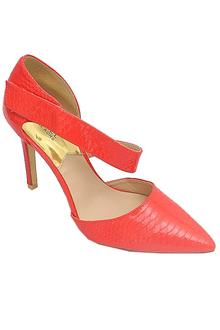 Michael Kors Orange Leather Heel Shoe