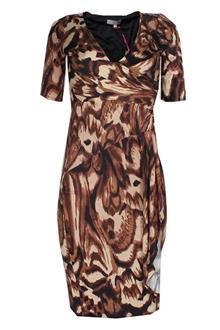 Peruna Brown Animal Print Ladies Dress