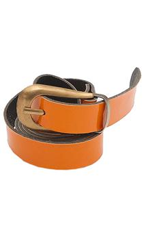 Orange Slim  Ladies Belt Wt Bronze Head L 37 in