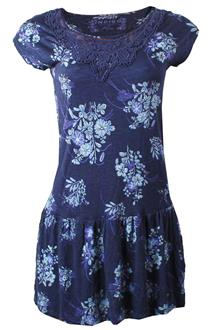 Indigo Collection Floral Purple/Blue Ladies Dress