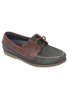 Blue Harbour Navy/Brown Mens Loafer wt Stain Defence
